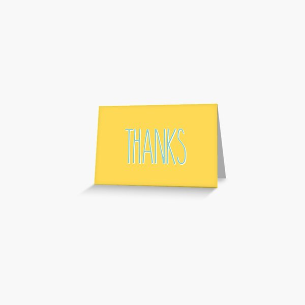 Thank You : Typography Greeting Card