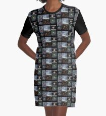 Colorful Colorado Collage Graphic T-Shirt Dress