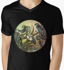 Three birds Men's V-Neck T-Shirt