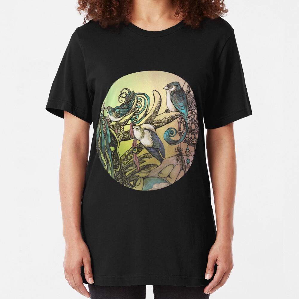 Three birds Slim Fit T-Shirt