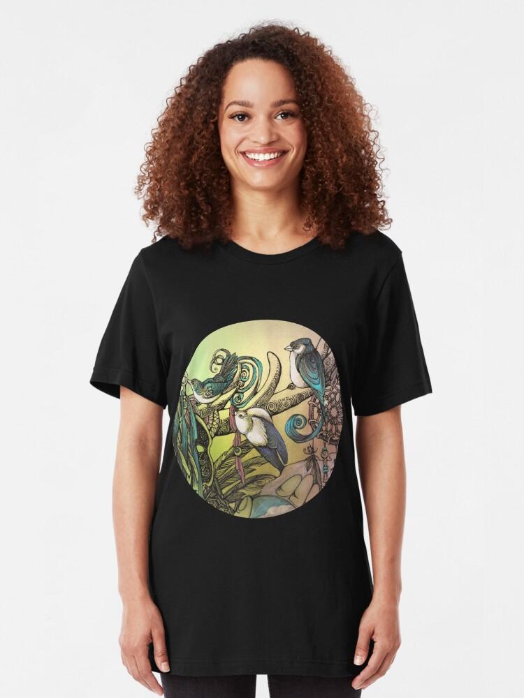 Alternate view of Three birds Slim Fit T-Shirt