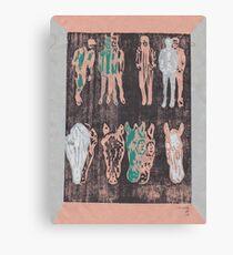 Four Horse Men Canvas Print