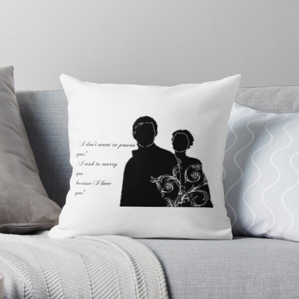 North and South Quote Throw Pillow