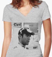 Cav. Women's Fitted V-Neck T-Shirt