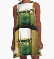 Old Glass Jars and Bottles A-Line Dress