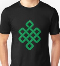 Green Slither Snake Knot Unisex T-Shirt
