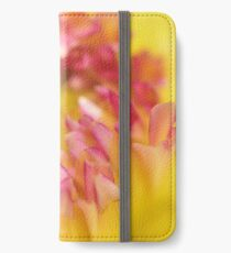 Pink and Yellow Dahlia, As Is iPhone Wallet/Case/Skin