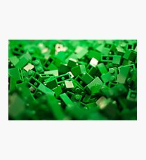 Green Lego Blocks Poster/Pillow/Stickers Photographic Print