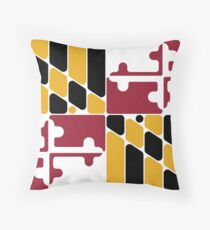 Maryland flag rounded  Throw Pillow