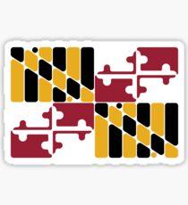 Maryland flag rounded  Sticker