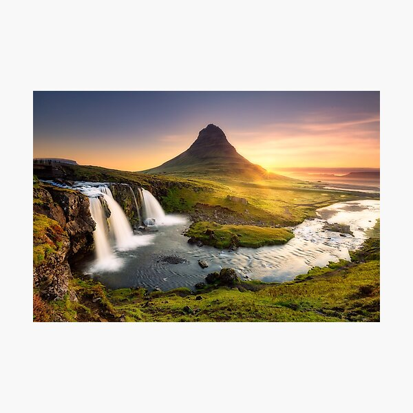 Kirkjufellfoss, Iceland Photographic Print