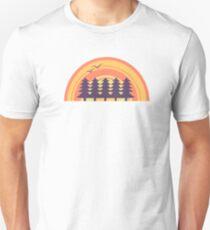 Sunset forest Unisex T-Shirt