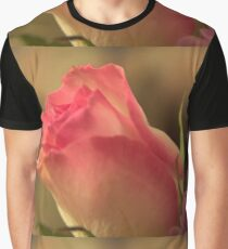Soft Pink and White Rose, As Is Graphic T-Shirt