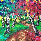Whimsical Woods Abstract by L.W. Turek
