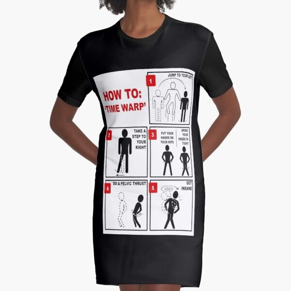 Rocky Horror Picture Show Time Warp Graphic T-Shirt Dress