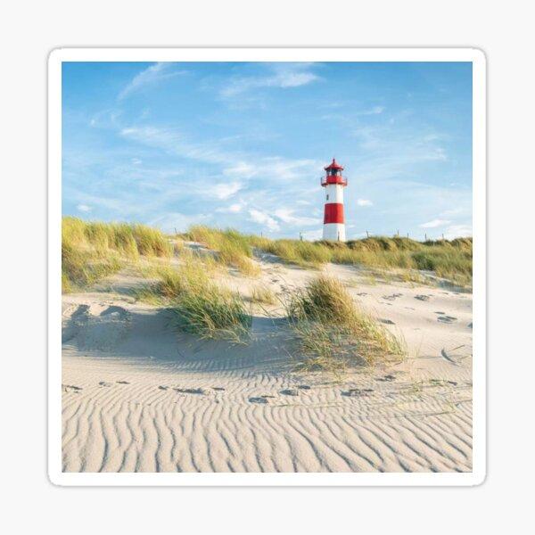 Leuchtturmliste Ost auf der Insel Sylt Schleswig Holstein Deutschland Sticker