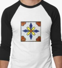Mexican Tile Men's Baseball ¾ T-Shirt