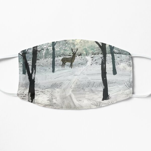 Stag In The Snow Flat Mask