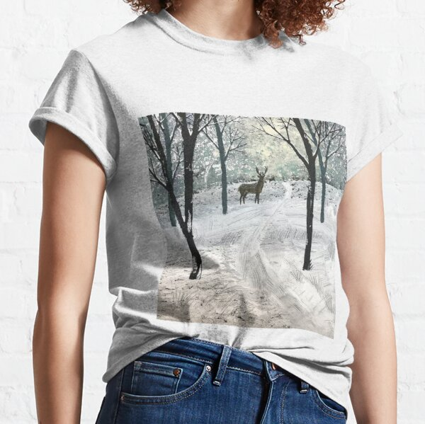 Stag In The Snow Classic T-Shirt