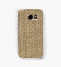 Natural Woven Beige Burlap Sack Cloth Samsung Galaxy Case/Skin