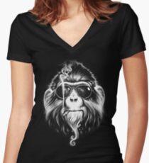Smoke 'Em If You Got 'Em Women's Fitted V-Neck T-Shirt