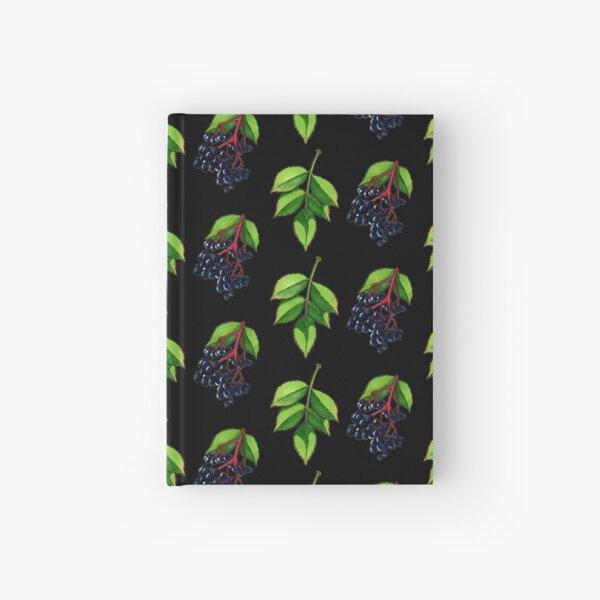 Elderberry (black BG) Hardcover Journal