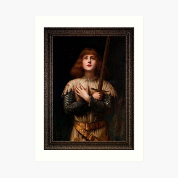Sainte Jeanne d'Arc by Paul Antoine De La Boulaye Classical Fine Art Xzendor7 Old Masters Reproductions Art Print