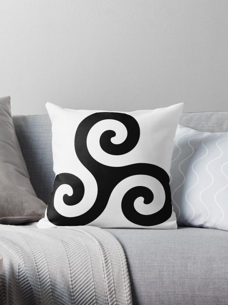 Quot Merlin Druid Symbol Quot Throw Pillows By Fandomslikeomg