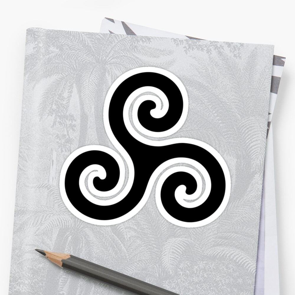 Merlin Druid Symbol Stickers By Fandomslikeomg Redbubble