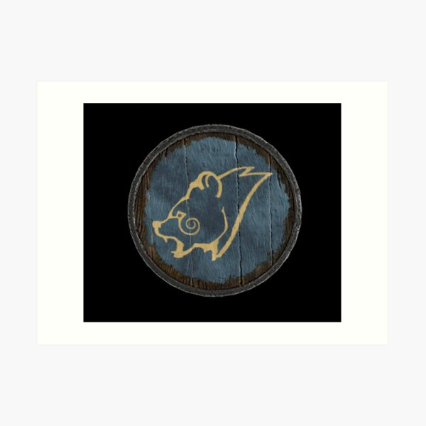 Stormcloak Windhelm Shield  Art Print