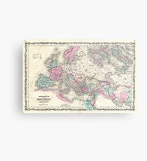 Vintage Map of The Roman Empire (1862) Metal Print