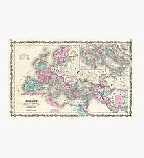 Vintage Map of The Roman Empire (1862) Photographic Print