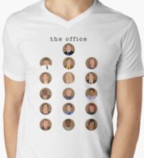 The Office Minimalist Cast Men's V-Neck T-Shirt