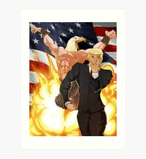 Trump's Bizarre Election - Jojo's Bizarre Adventure Trump Art Print