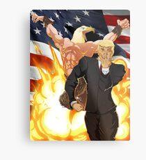 Lienzo metálico Bizarre Election de Trump - Jojo's Bizarre Adventure Trump