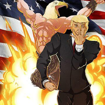 Trump's Bizarre Election - Jojo's Bizarre Adventure Trump by Derp234