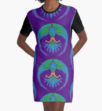 Tropical FIrebird Graphic T-Shirt Dress