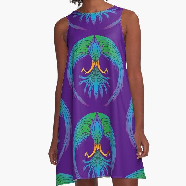 Tropical FIrebird A-Line Dress