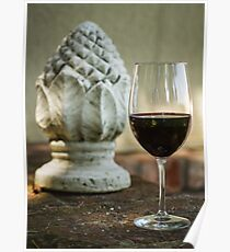 Wine and Sculptures Poster