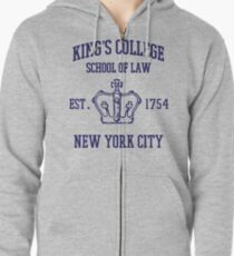 HAMILTON BROADWAY MUSICAL King's College School of Law Est. 1854 Greatest City in the World Zipped Hoodie