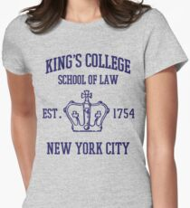 HAMILTON BROADWAY MUSICAL King's College School of Law Est. 1854 Greatest City in the World Women's Fitted T-Shirt