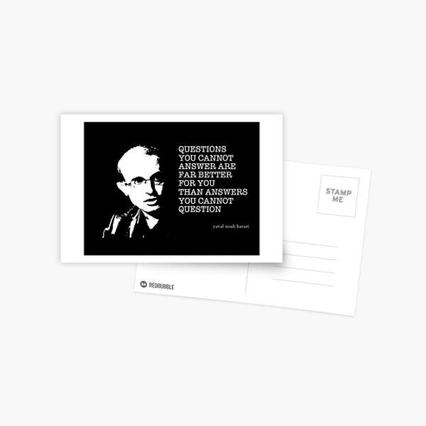 Yuval Noah Harari Quote Postcard