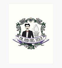 Mr. And Mrs. Tesla Art Print