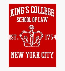 HAMILTON BROADWAY MUSICAL King's College School of Law Est. 1854 Greatest City in the World Photographic Print
