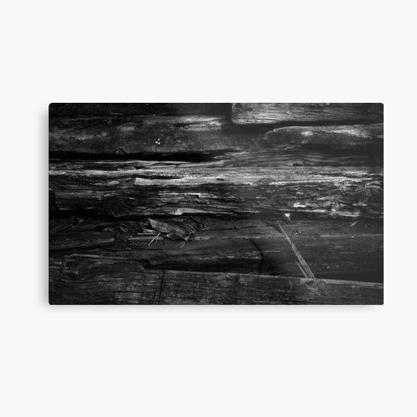 Old Wood Metal Print