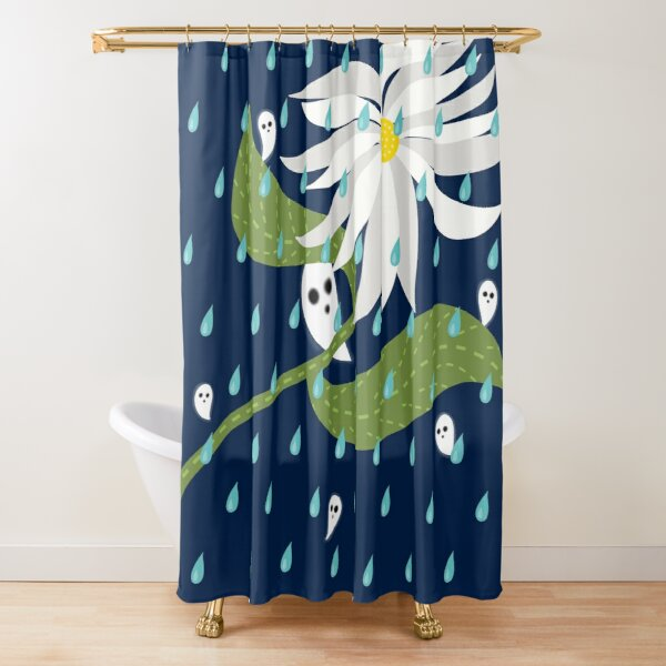 Ghosts Sheltering From The Rain Shower Curtain