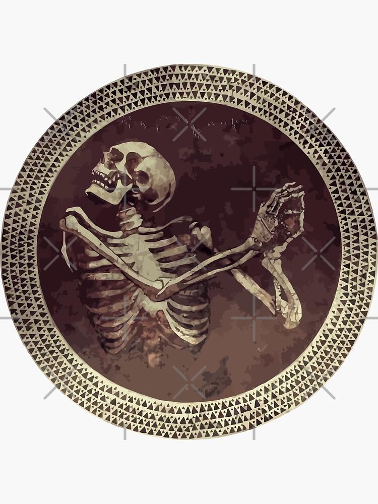 Hannibal: Dancing Skull + Skeleton Mosaic  by camboa