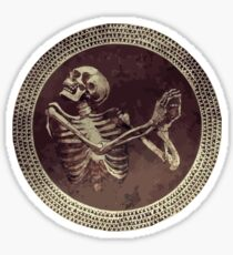 Hannibal: Dancing Skull + Skeleton Mosaic  Sticker