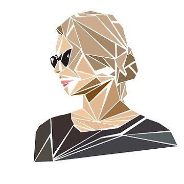 Geometric Girl by awkwardunclekim