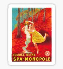 Vintage poster - Source Reine Sticker